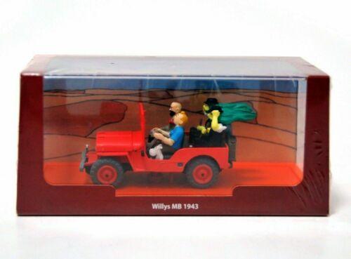 TINTIN 1//43 Jeep Willys MB CJ2a Au Pays de lór noir 1950 P.33 cochesaescala