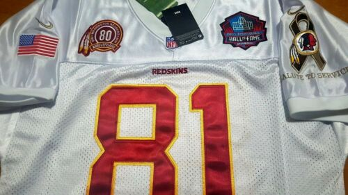 New Redskins #81 Art Monk Throwback classic w//3Patches sewn Jersey WHITE Free sh