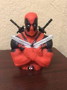 Marvel Deadpool Bust Figure Coin Bank 3D Action Figure