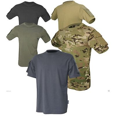 Viper Tactical T-Shirt with Pockets - Military Camo / Plain T Shirt Army Combat