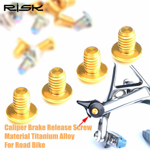 2pcs Titanium Road Bike Caliper Brake Release Screw Bolt UT6800DA9000DA9010