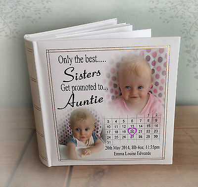 Sister Auntie birthday or christmas gift. Personalised large luxury photo album