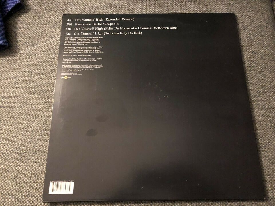 "Maxi-single 12"", The Chemical Brothers, Get Yourself High"