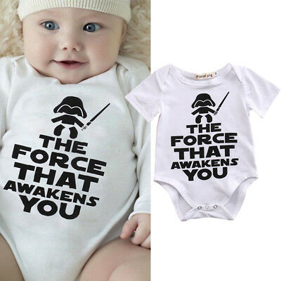 Cotton Newborn Toddler Baby Boy Girl Bodysuit Romper Jumpsuit Clothes Outfits