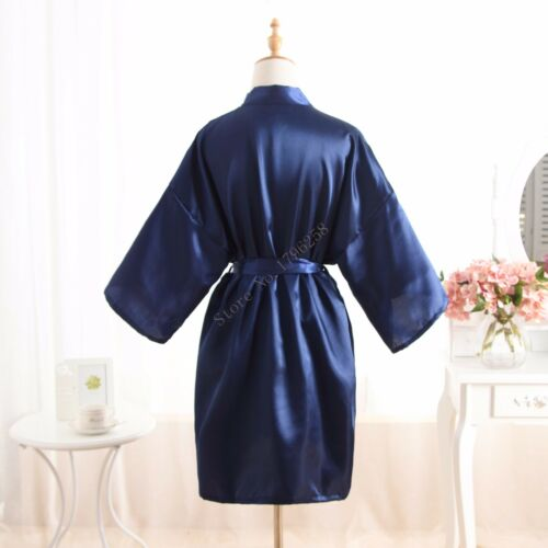 Hot Women robe Silk Satin Robes Wedding Bridesmaid Bride Gown kimono Solid robe