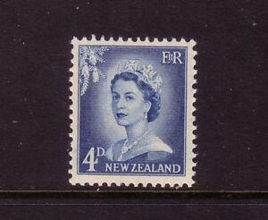 NEW-ZEALAND-1955-QE11-4d-blue-mnh