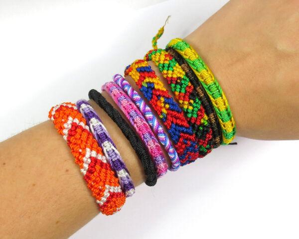 100% QualitäT Ein Freundschaftsarmband Makrameearmband Armband Bunt Armkettchen Geknüpft Neu Einen Einzigartigen Nationalen Stil Haben
