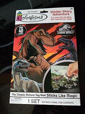 Jurassic World The Original Colorforms Sticker Story Adventure