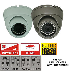 1080P 2.4MP SONY HD TVI AHD CVI ANALOGUE 4 IN 1 CCTV DOME CAMERA 3.6mm 20m IR UK