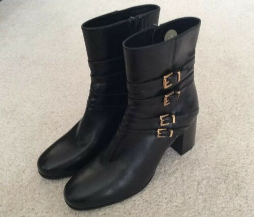Leather Ankle New Boots Brand Black uk6 Opra Ladies Unisa 4wgBxt1
