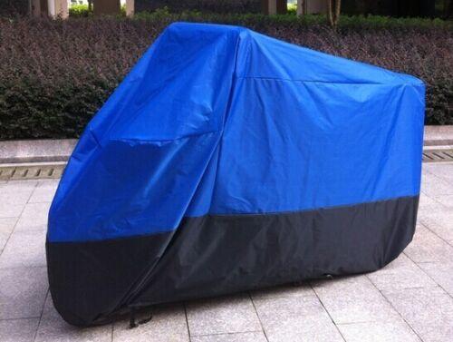 XXXL Waterproof Motorcycle Bike Cover Outdoor UV Dust Protector Blue Black US
