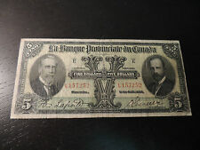 1928 BANQUE PROVINCIALE CANADA $ 5 FIVE DOLLAR 615-14-08 L 157252