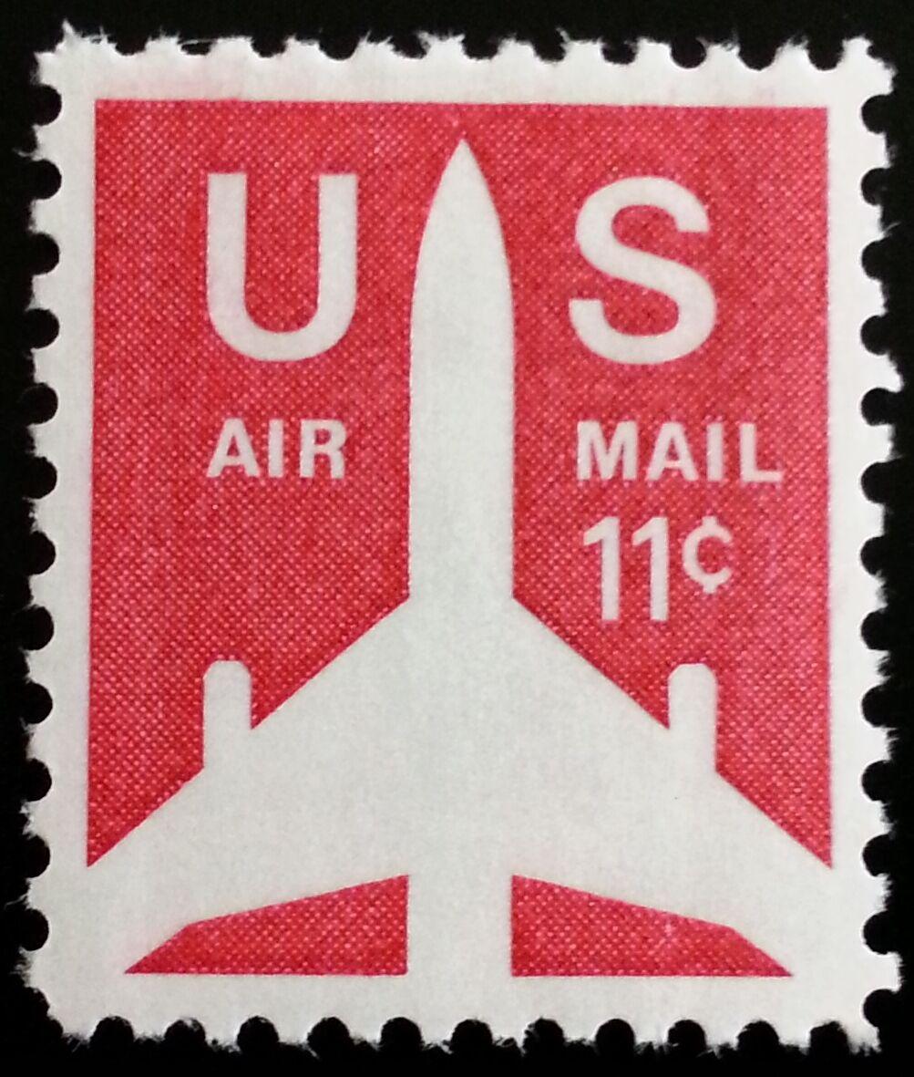 1971 11c Jet Airliner Silhouette, Air Mail Scott C78 Mi