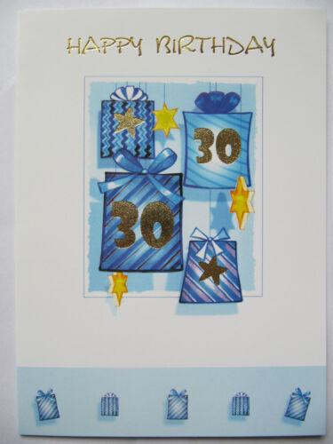BEAUTIFUL PRESENT AND STARS 30TH BIRTHDAY GREETING CARD