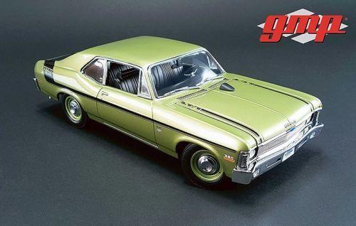 Gmp 1970 Chevrolet Nova Yenko Deuce 1 18 Modelo Fundido Citrus verde 18831