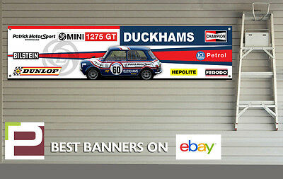 British Leyland Garage RAC Rally Mini 1275GT Rally Car Banner for Workshop