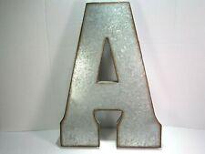 """Letter /""""E/"""" Marque Black Metal 3D Vintage Style Letters Sign Farm Decor"""