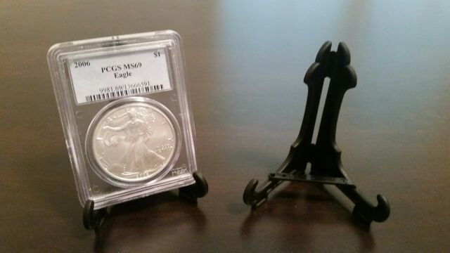 "20 Easel Type 2/"" Display Stand Coin in PCGS NGC Air-Tite Capsule"