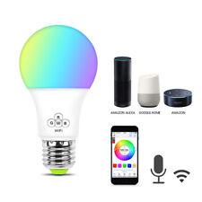 85-265V WiFi Smart Light Bulbs E27 E14 RGB+CW LED Lamp For Google Home//Alexa 9F
