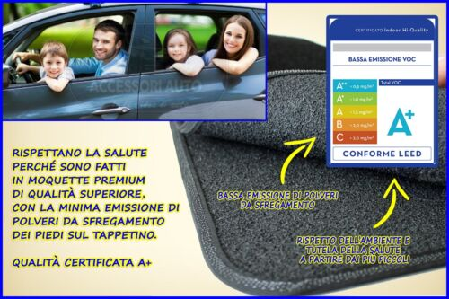Tappetino Lancia Ypsilon Y 2003/>2011 tappeti guidatore auto su misura antiscivo