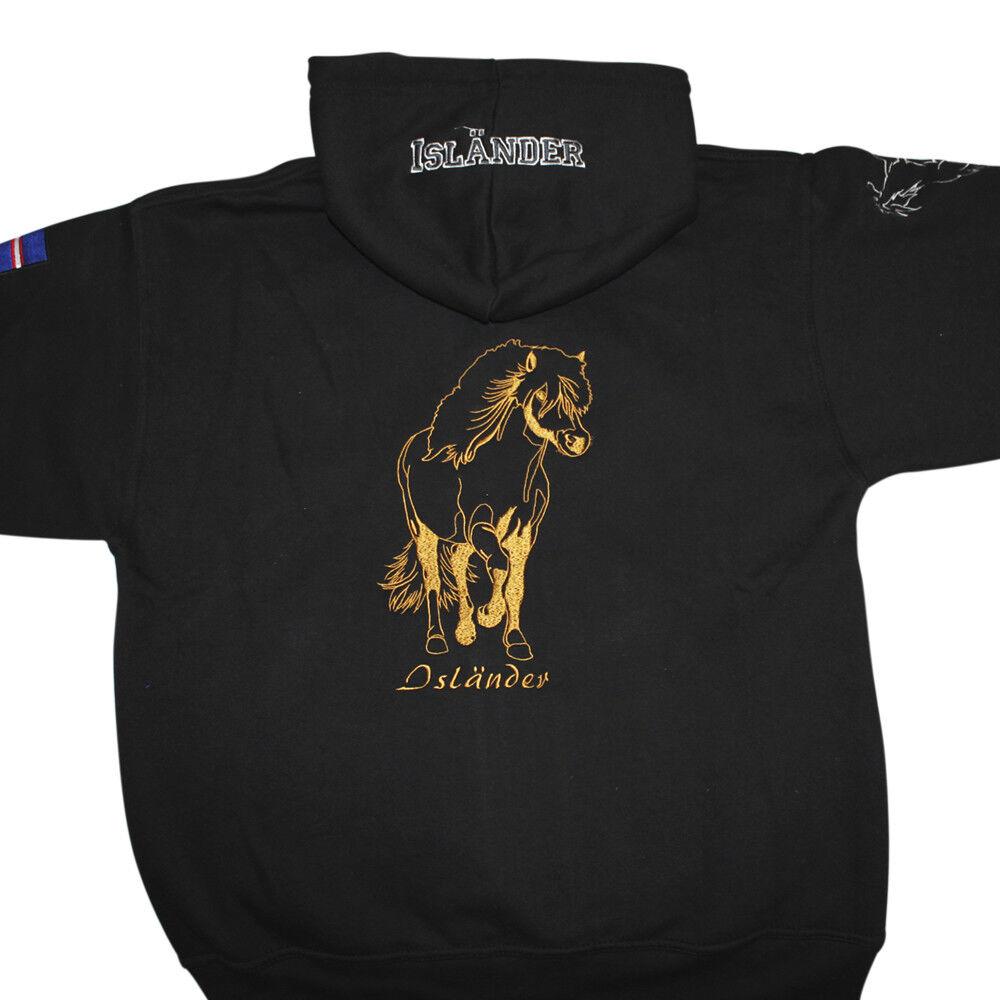 Giacca Giacca Giacca con Cappuccio con Grande Ricamo e Stampa Cavallo Islaender 132030 c3745c