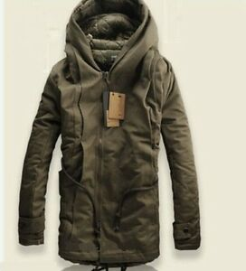 Image is loading NEW-Winter-Mens-Military-Trench-Coat-Ski-Jacket- 98f9d389220