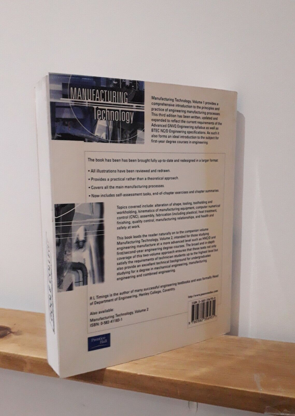 Manufacturing Technology by Roger L  Timings (Paperback, 1998)