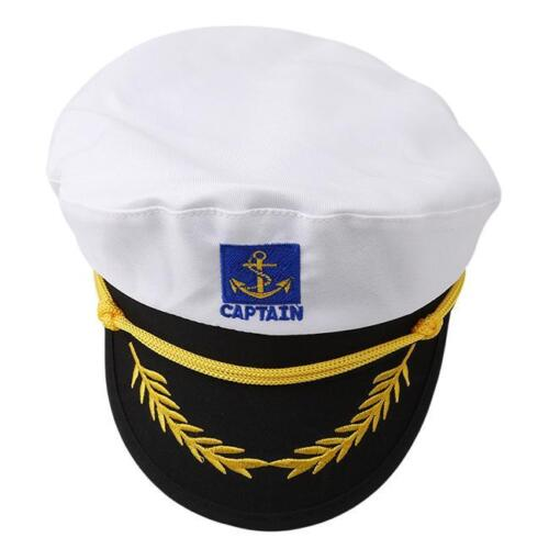 Captain Anchor Sailor Hat Navy Fancy Dress Yacht Costume Sea Cap Fishing WO
