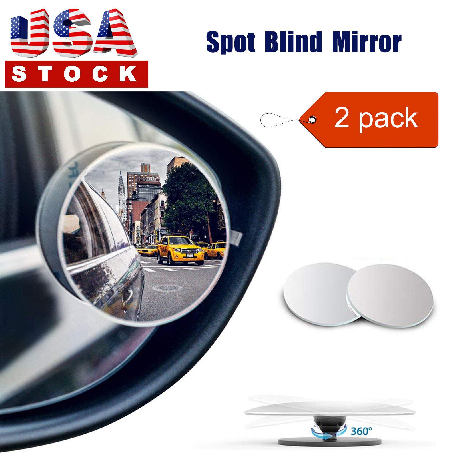 360° Adjustable Blind Spot Mirror Car Trunk Spot side Mirror Mini 2 Pack