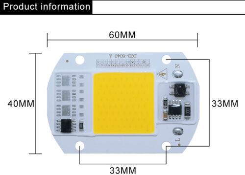Smart IC Driver 20W 30W 50W LED Bulb Floodlight COB Chip Input Integrated A 220V