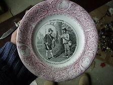 Ancienne assiette en faïence Lunéville Ces Bons Chasseurs N°8