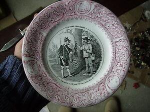 Ancienne Assiette En Faïence Lunéville Ces Bons Chasseurs N°8 Dkf7imrn-07215234-617656734