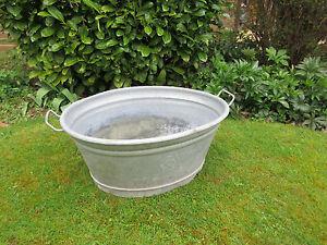 large-big-galvanised-washing-wash-water-tub-garden-planter-pot-myref-701