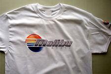 T-shirt Malibu Boats white 100% cotton with print on sleeve size medium