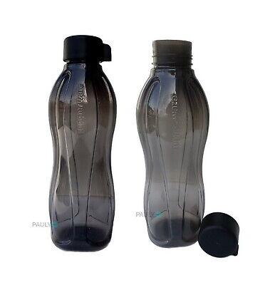 Tupperware EcoEasy Flasche 1l Trinkflasche Eco Easy Schraubverschluss SCHWARZ
