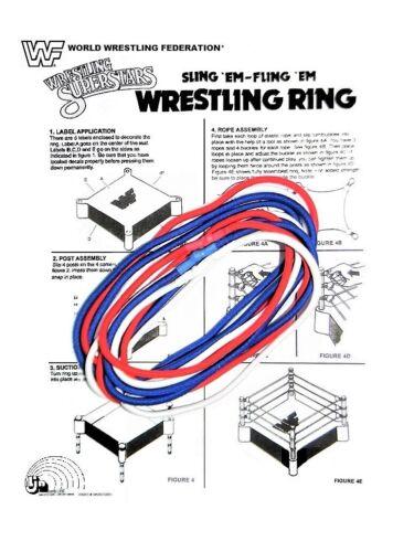 "REPLACEMENT ROPES FOR A WWE LJN /""SLING EM FLING EM/"" WRESTLING RING ~ CUSTOM FIT"