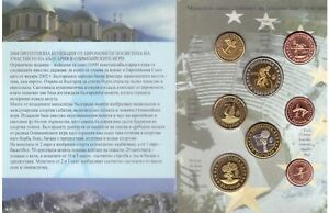 BULGARIA-8-DIF-UNC-PATTERN-COINS-SET-0-01-2-EURO-2004-YEAR-OLYMPIC