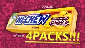 HI-CHEW-4-PACKS-40-TOTAL-Lilikoi-Flavor-Chewy-CANDY-FREE-SHIP-USA