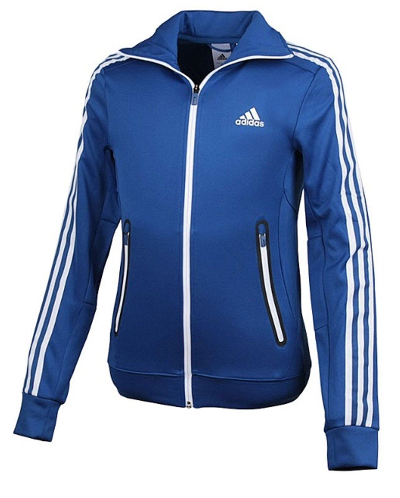 Adidas Men AK 3S Track Top Jacket Blau Soccer Running Shirts GYM Jackets AJ3645