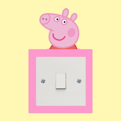 Wall Art Decal Stickers Quality vinyl New Pepper pig light switch sticker