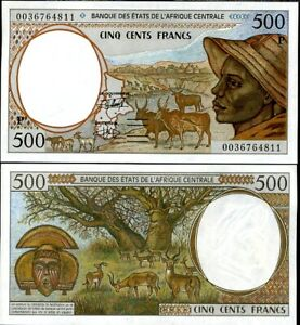Central African States Chad 500 Francs 2000 P 601 Pg UNC