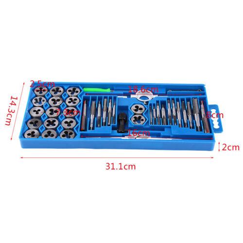 Feingewinde Gewindeschneidsatz Werkzeug Satz M3-M12 Gewindeschneider Set 40-tlg