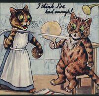 "SCARCE..! LOUIS WAIN...""TAKING THE WATERS"" (HARROGATE) CAT AT SPA,TUCK POSTCARD"