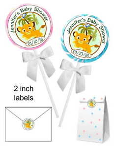 20 Lion King Simba Baby Shower Favors Stickers Labels For Lollipops