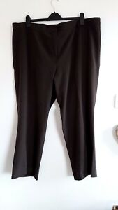 Lovely-Brown-Smart-Partially-Elasticated-Trousers-from-Berkertex-Size-24-Fab