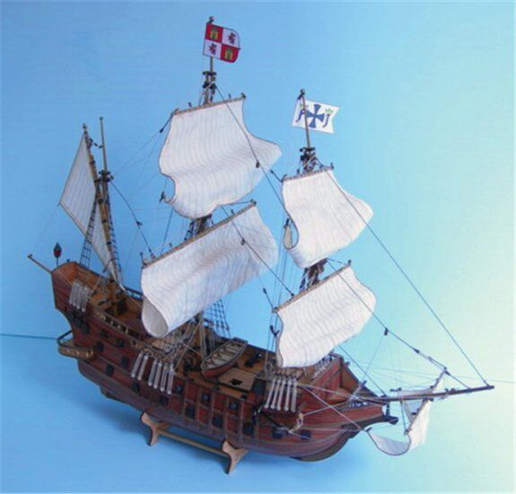 ZHL San Francisco 1607 wood model ship kits scale 1 90 26inch
