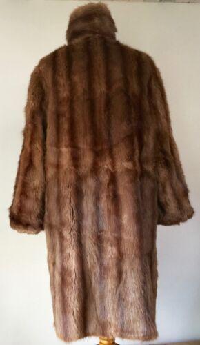 Classic Brown Length Med Vintage Real Full Coat Fur 42