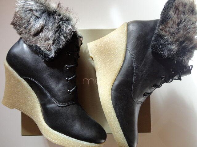 Mellow amarillo bottines Low botas en cuir negro Kafka 39 Neuves