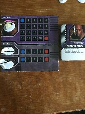 Star Wars Epic Duels  Board Game 2 Replacement  Quick Guide Cards
