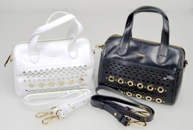 Pinko Borsa Bauletto Tracolla Donna-woman Trunk Bag Bianco nero-white black  Nero - Black  98a41ac6ed4